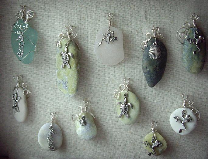 Серёжки из натуральных камней своими руками