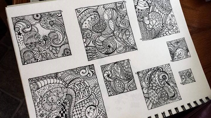 Some of my zentangles - here's hoping I can figure out how to carve some of this!