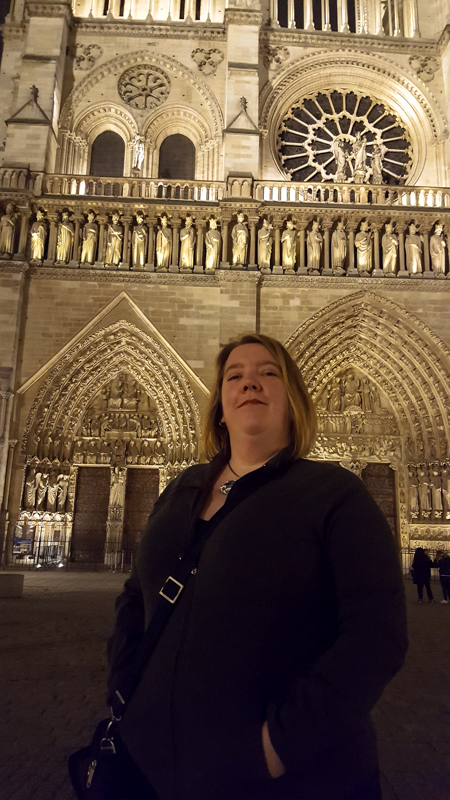Someone told me I had to take pictures of me at the places, not just the places. So. Here you go. Me about to attend at concert at Notre Dame de Paris.